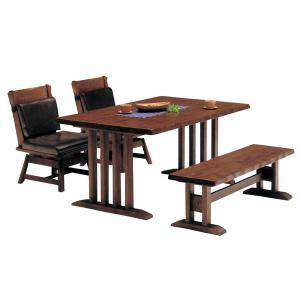 和風 テーブル ダイニングセット 4人 和風 ダイニングセット 150サイズ ダイニングテーブルセット 4点 風雅ダイニング4点セット|potarico