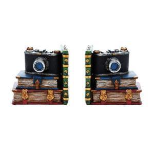 【カメラ型のめずらしいデザインがかわいいレトロ雑貨】 ブックエンドカメラ【82456】|potarico