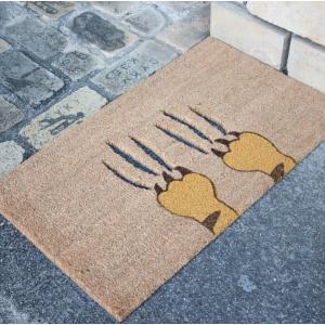 玄関マット コイヤーマット 外 外用 猫 ネコ ねこ おしゃれ かわいい 北欧 滑り止め 玄関マット 75×45 アニマル柄 コイヤーマット キャット スクラッチ|potarico