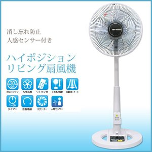 扇風機 リビング扇風機 30cm 5枚羽根 首振り ハイポジションリビング扇風機 SKJ-K309HDR|potarico