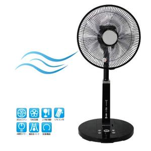 扇風機 リビング 扇風機 リモコン せんぷうき ファン SKJ-SE30FR(ブラック)|potarico