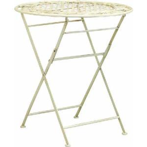 折りたたみ式 ガーデン テーブル ホワイト|potarico