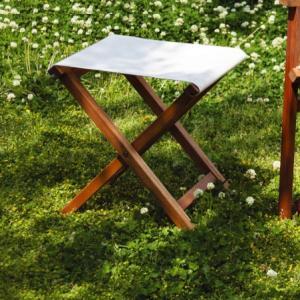スツール 折りたたみ 簡易スツール 木製 ガーデンスツール オットマン NX-602|potarico