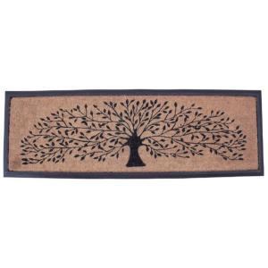玄関マット 長方形 大判  屋外 ラバー&コイヤーマット 120×40  COIR MAT RECT(FRAME TREE)|potarico
