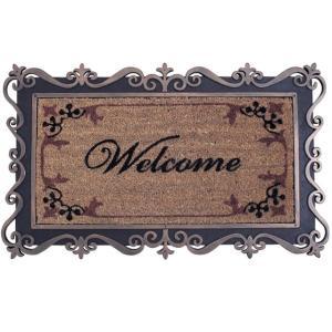 玄関マット  屋外 ラバー&コイヤーマット 75×45 COIR MAT RECT(FRAME WELCOME)|potarico