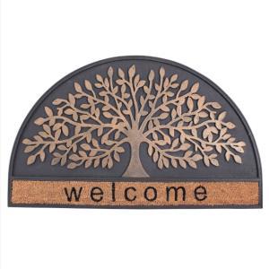 ラバーマット 玄関マット  屋外  スタイリッシュ 半円 75×45 RUBBER MAT RECT(WELCOME TREE)|potarico