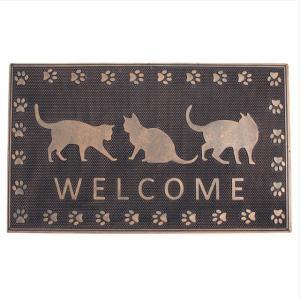 ラバーマット 玄関マット  屋外  スタイリッシュ75×45  RUBBER MAT RECT(WELCOME CAT)|potarico