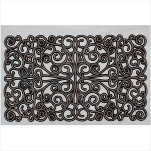 ラバーマット 長方形  玄関マット  屋外  スタイリッシュ ブロンズ  75×45  RUBBER MAT EMBLEM|potarico