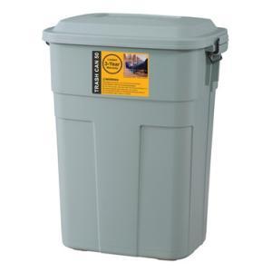 トラッシュカン ゴミ箱 50L ふた付き おしゃれ  ごみ箱 ダストボックス 大容量 復元 スクエア型 LFS-936|potarico
