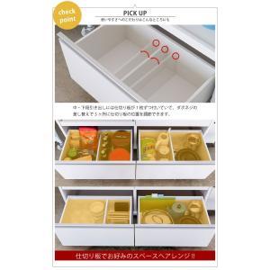 【完成品】キッチンカウンター 国産 キッチン収納 レンジ台 食器棚 カウンター収納 幅120cm パレス120カウンター (WH・BR) PALACE 【送料無料】|potarico|13