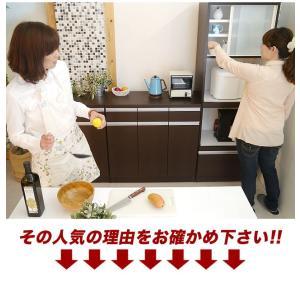 【日本製】 キッチン カウンター 完成品 食器棚 幅90cm 収納 食器棚 ブラウン シンプル モダン スライス90カウンター SLICE|potarico|04