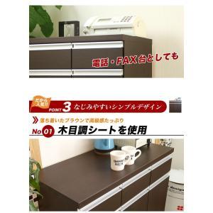 【日本製】 キッチン カウンター 完成品 食器棚 幅90cm 収納 食器棚 ブラウン シンプル モダン スライス90カウンター SLICE|potarico|10