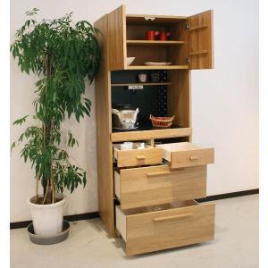 食器棚 70 キッチン収納 レンジ台 完成品 北欧 オクタ70キッチンボード potarico 02