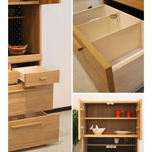 食器棚 70 キッチン収納 レンジ台 完成品 北欧 オクタ70キッチンボード potarico 03