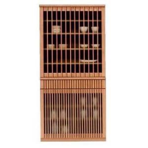 食器棚 引き戸 引き出し 山水 90ダイニングボード (ナチュラル・ブラウン)|potarico