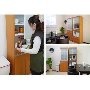 食器棚 完成品 人気 引き戸 60サイズ スリム 省スペース ダイニングボード ナチュラル|potarico|02