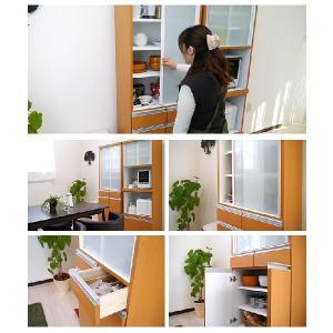 食器棚 完成品 人気 引き戸 60サイズ スリム 省スペース ダイニングボード ナチュラル|potarico|06