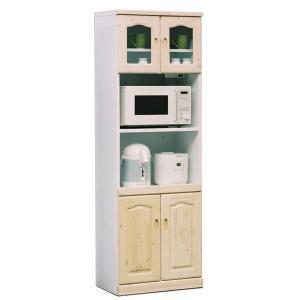 食器棚  60 レンジ台 完成品 スリム レンジ収納 キッチン収納|potarico