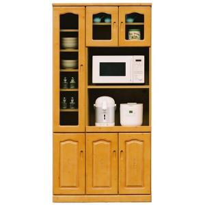 レンジボード 90 キッチン収納 食器棚 ガラス レンジ台 potarico