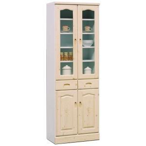 食器棚  60 ダイニングボード 完成品 キッチン収納  ガラス扉 引出収納 木製 食器棚 potarico