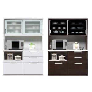 キッチンボード 食器棚 140 完成品 引戸 potarico