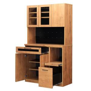 食器棚 完成品 食器棚105 キッチンボード 収納棚 おしゃれ ネイツ105KB potarico 02