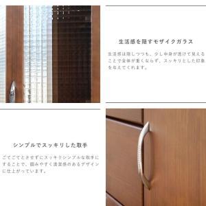 食器棚 90 完成品 キッチンボード おしゃれ バニラ90マルチ ブラウン|potarico|11