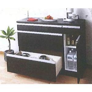 キッチンカウンター 食器棚 120cm 完成品|potarico