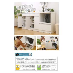 キッチンカウンター 食器棚 レンジ台 キッチン収納 完成品 日本製 スリム 幅120 ホワイト おしゃれ スライス120カウンターレンジ(Wh)SLICE【送料無料】|potarico|16