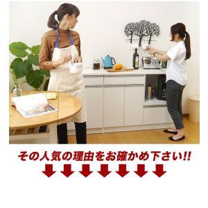 キッチンカウンター 食器棚 レンジ台 キッチン収納 完成品 日本製 スリム 幅120 ホワイト おしゃれ スライス120カウンターレンジ(Wh)SLICE【送料無料】|potarico|04