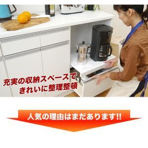 キッチンカウンター 食器棚 レンジ台 キッチン収納 完成品 日本製 スリム 幅120 ホワイト おしゃれ スライス120カウンターレンジ(Wh)SLICE【送料無料】|potarico|09