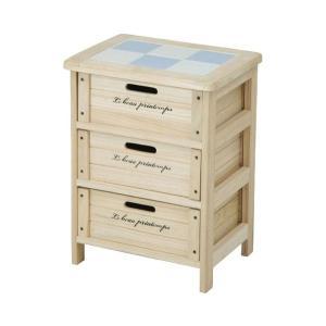 ワゴン キッチンストッカー 桐材 木製3段BOX|potarico