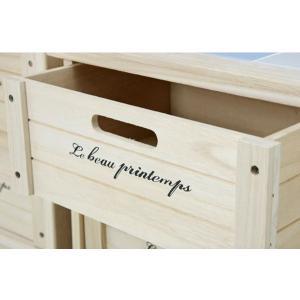 ワゴン キッチンストッカー 桐材 木製3段BOX|potarico|04