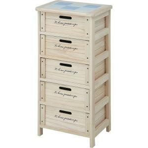 ワゴン キッチンストッカー 桐材 木製5段BOX potarico