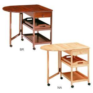 キッチンワゴン キャスター付き 折りたたみ 木製 バタフライ キッチン ワゴン テーブル potarico