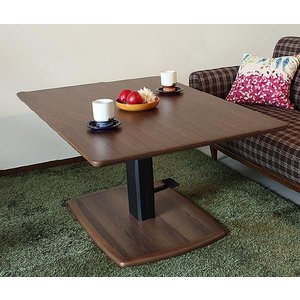 昇降テーブル ダイニングテーブル 木製|potarico