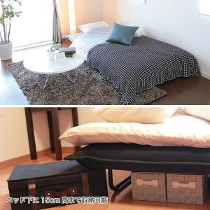 ソファーベッド ベッド おしゃれ  ソファ&ベッド キャスター付  ブラック|potarico|03