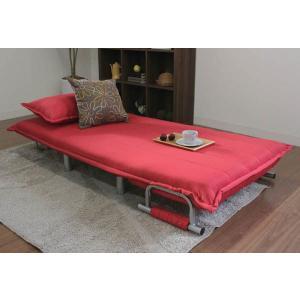 ソファーベッド ベッド おしゃれ ひとり掛け ソファ&ベッド ウメ|potarico|03