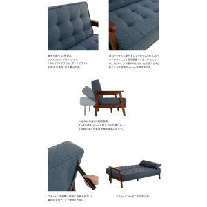 ソファーベッド リクライニング ソファベッド PVC ファブリック リクライニングソファベッド SO-02|potarico|03