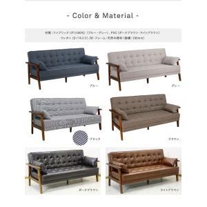 ソファーベッド リクライニング ソファベッド PVC ファブリック リクライニングソファベッド SO-02|potarico|04