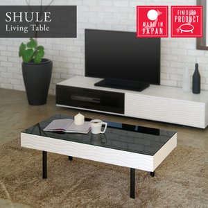 センターテーブル リビングテーブル ガラス テーブル 白 ホワイト 引き出し 収納付き おしゃれ シュールリビングテーブル|potarico