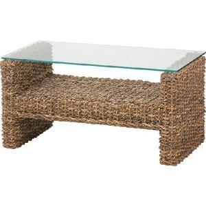 ガラステーブル リゾート アバカ材|potarico