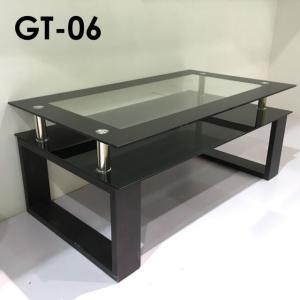 ガラス テーブル リビングテーブル 長方形105 棚板 GT-06 105ガラステーブル|potarico
