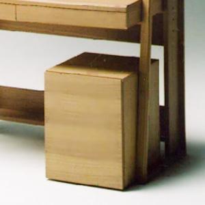 サイドチェスト 引出 収納 キャスター パソコンデスクワゴン木製side cabinet SC-SB-12 ナチュラル-tm|potarico