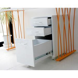 ホワイト色 ワゴン シンプルデザイン ワゴンデスク PCデスク PCワゴン机 棚 キャスター付き キャロットワゴン-gt|potarico