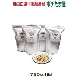 【ドッグフード工房】 800g (普通・小粒)選べる4個(3.2kg)セット 手造りドッグフード (犬用全年齢対応) 馬肉・鶏肉・野菜畑を自由に選んでください|potitamaya-y