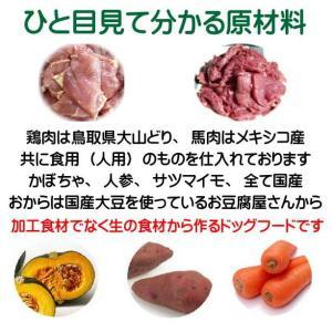 国産 無添加 自然食 健康 こだわり食材  【 お米のドッグフード 】 鶏肉・馬肉 800g 2個セット (1.6kg) ドックフード (犬用全年齢対応)|potitamaya-y|11