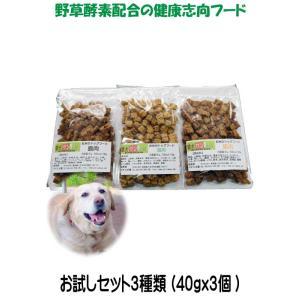 愛犬の健康 を気にする方の 国産 無添加 ドックフード お米の ドッグフード お試しセット2種類 鶏・馬 (犬用全犬種全年齢対応)|potitamaya-y