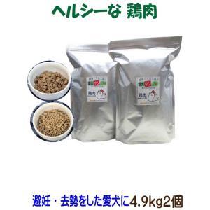 【愛犬ワンダフル】 鶏肉タイプ 4.9kg 2個 (9.8kg)セット  (小粒も選べます) ナチュラル ドッグフード (犬用全年齢対応)|potitamaya-y