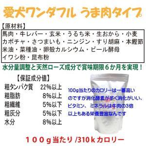 【愛犬ワンダフル】 馬肉タイプ  800g (小粒も選べます) ナチュラル ドッグフード (犬用全年齢対応)|potitamaya-y|03